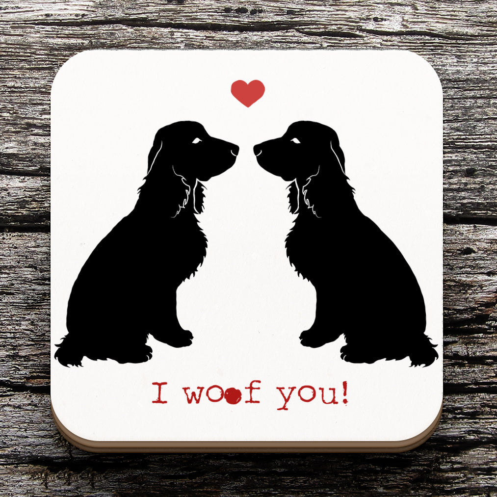 Cocker Spaniel Valentine Coaster
