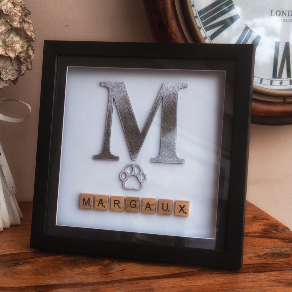 Personalised Pet Name - Box Frame