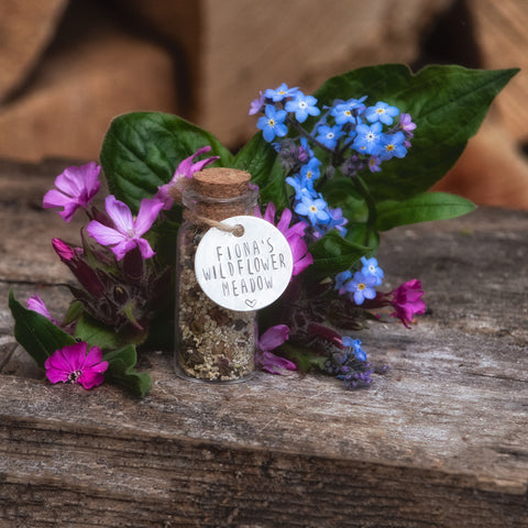 Personalised Wildflower Meadow In A Jar