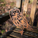Millie the Little Owl - Rustic Rusted Garden Wildlife Sculpture