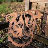 Border Collie Dog 2 - Rustic Rusted Pet Garden Sculpture - Solid Steel