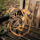 Bulldog  - Rustic Rusted Pet Garden Sculpture - Solid Steel
