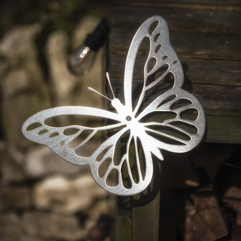 Butterfly - Rustic Rusted Garden Wildlife Sculpture - Solid Steel