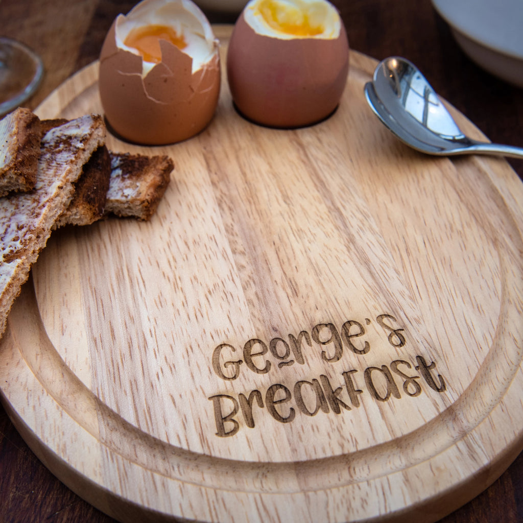 Personalised Egg Shape Breakfast Board