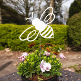 Flying Bumble Bee - Rustic Rusted Garden Wildlife Sculpture - Solid Steel