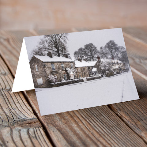 Village Snow Blanket - Christmas Card