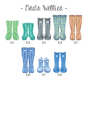 Welly Boot Family Print