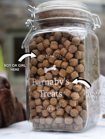 Personalised Large Dog Treat Jar