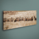 PANORAMIC - EASTERN MOOR DEER - 1.2m x 50cm