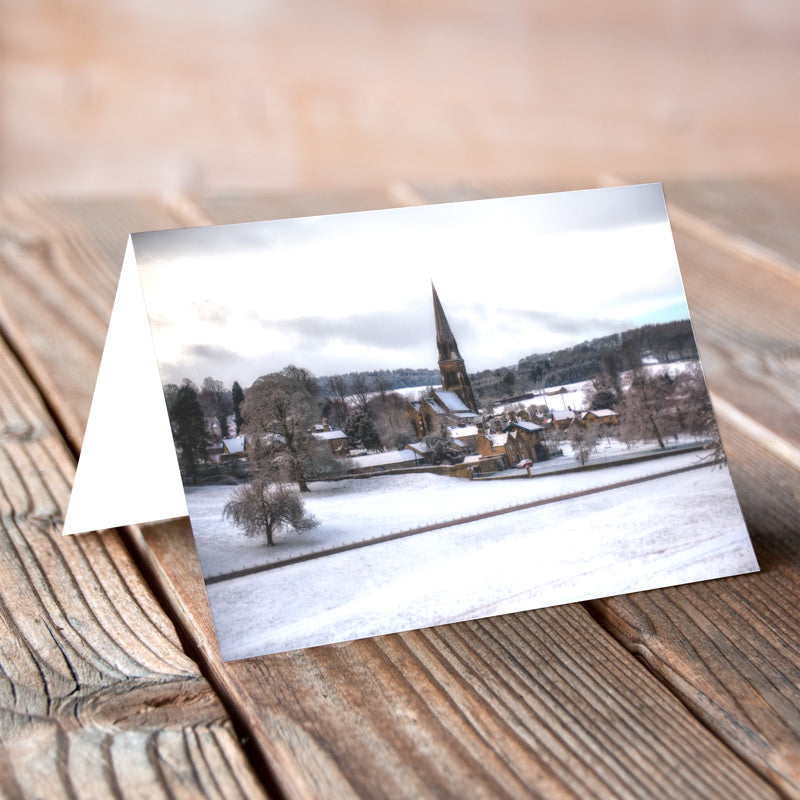 Greeting Card - Edensor in Winter