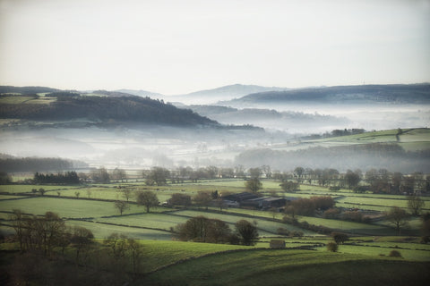 Great Longstone Mist Landscape Print