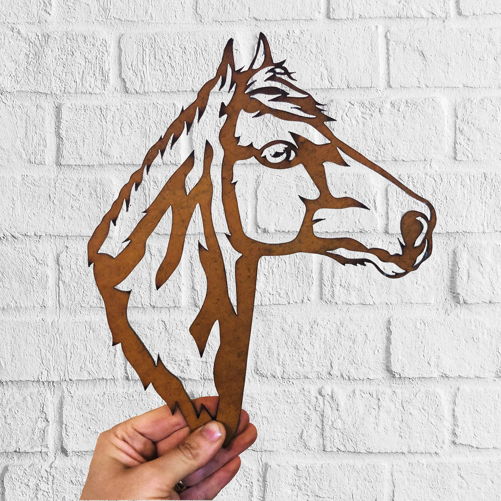 Horse 2 - Animal Sculpture - Rustic Solid Steel