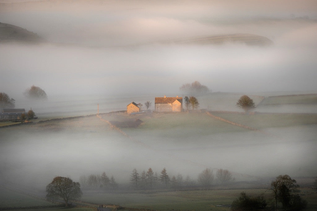 House in the Mist Landscape Print