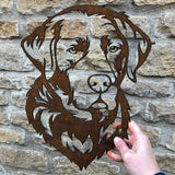A Labrador - Rustic Rusted Pet Garden Sculpture - Solid Steel