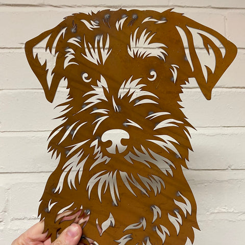 Schnauzer Miniature - Ready Rusted - Clearance