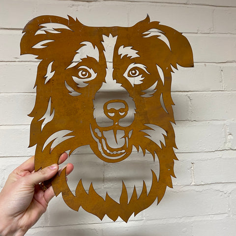 Collie Dog 1 MEDIUM - Ready Rusted - Clearance