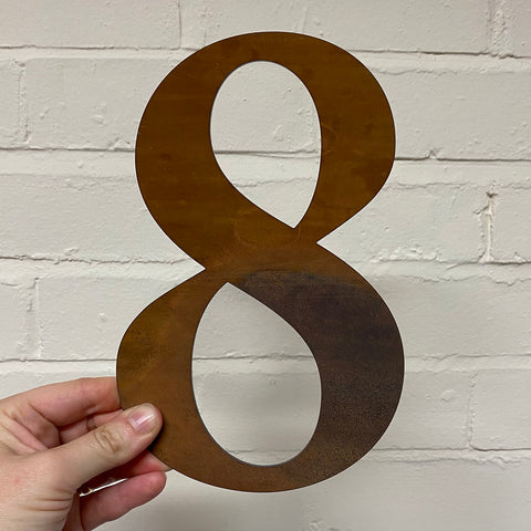Number 8 - Rustic Steel Sculpture