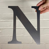 Letter N - Rustic Steel Sculpture