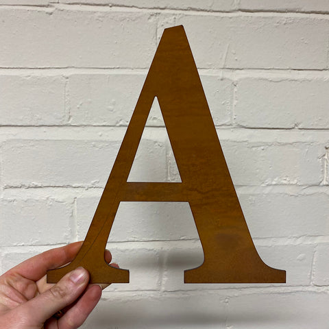 Letter A - Rustic Steel Sculpture