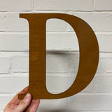 Letter D - Rustic Steel Sculpture