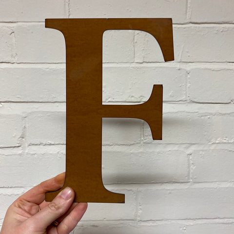 Letter F - Rustic Steel Sculpture