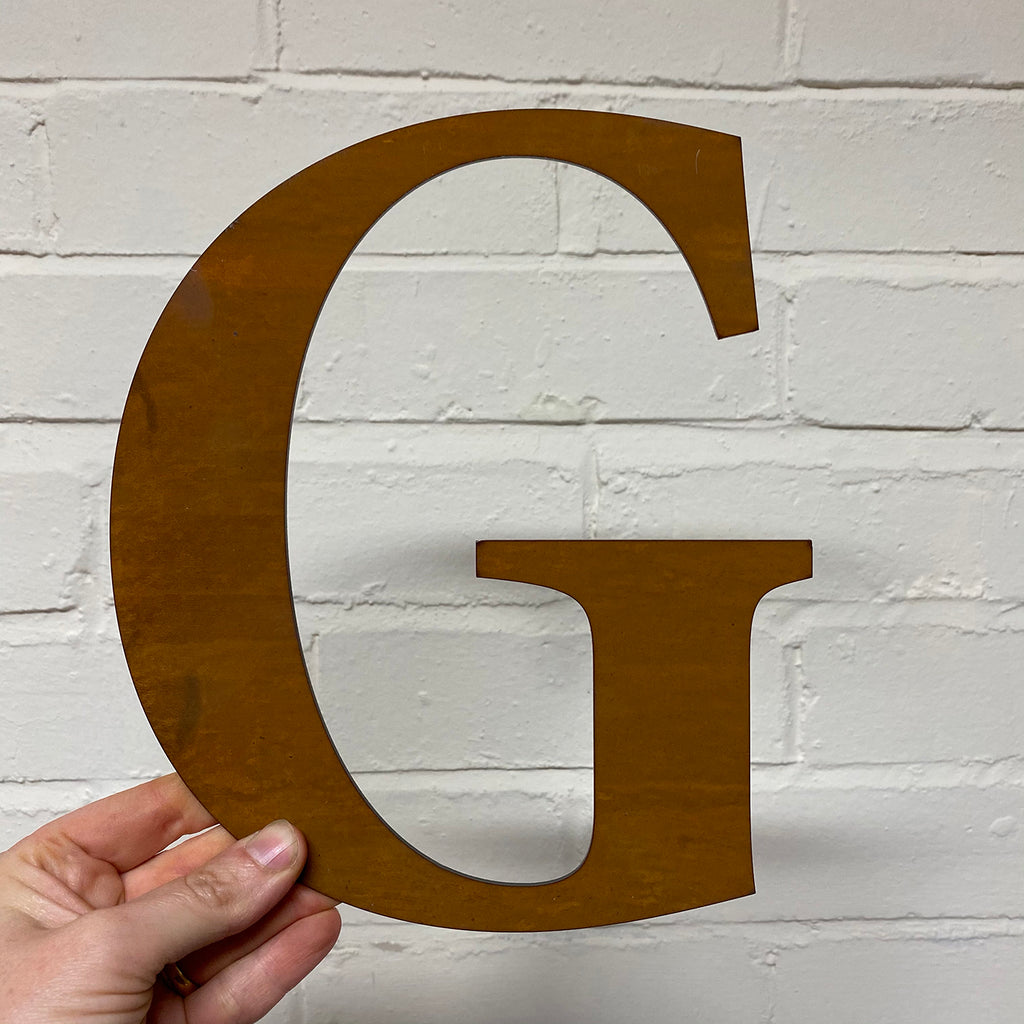 Letter G - Rustic Steel Sculpture