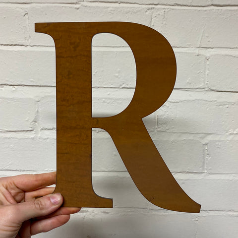 Letter R - Rustic Steel Sculpture