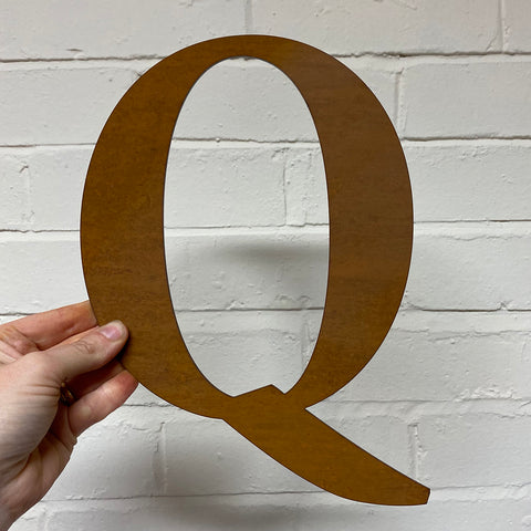 Letter Q - Rustic Steel Sculpture