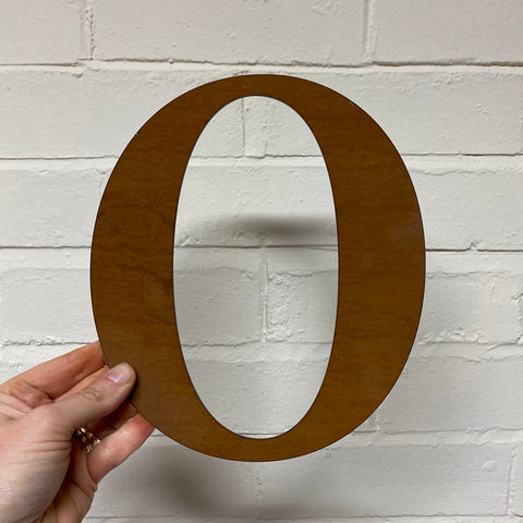 Letter O - Rustic Steel Sculpture