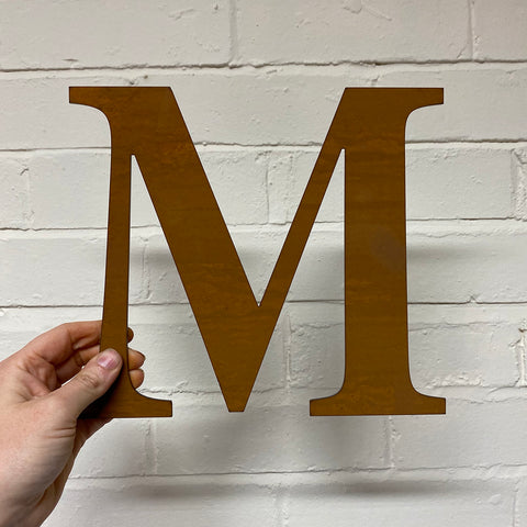 Letter M - Rustic Steel Sculpture