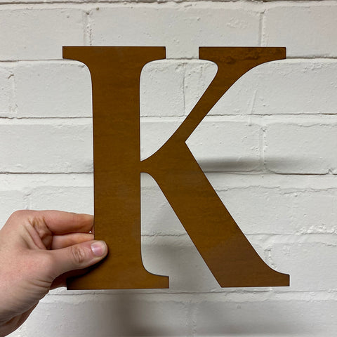 Letter K - Rustic Steel Sculpture