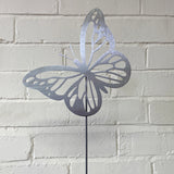 Flying Butterfly - Rustic Rusted Garden Wildlife Sculpture - Solid Steel
