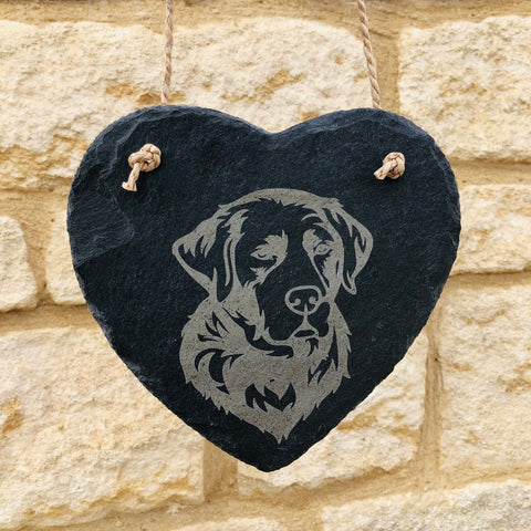 Dog Slate Heart - Garden Sign