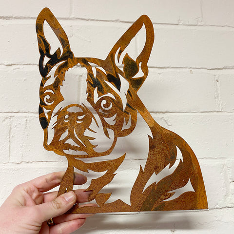 Boston Terrier SMALL - Ready Rusted - Clearance