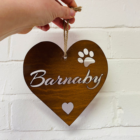 Personalised Large Love Heart - Rustic Rusted Garden Sign