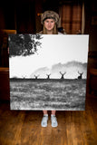 JUMBO ART - ASCENT OF STAG - HUGE 1 Metre Square Canvas