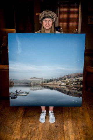 JUMBO ART - LADYBOWER  - HUGE 1 Metre Square Canvas