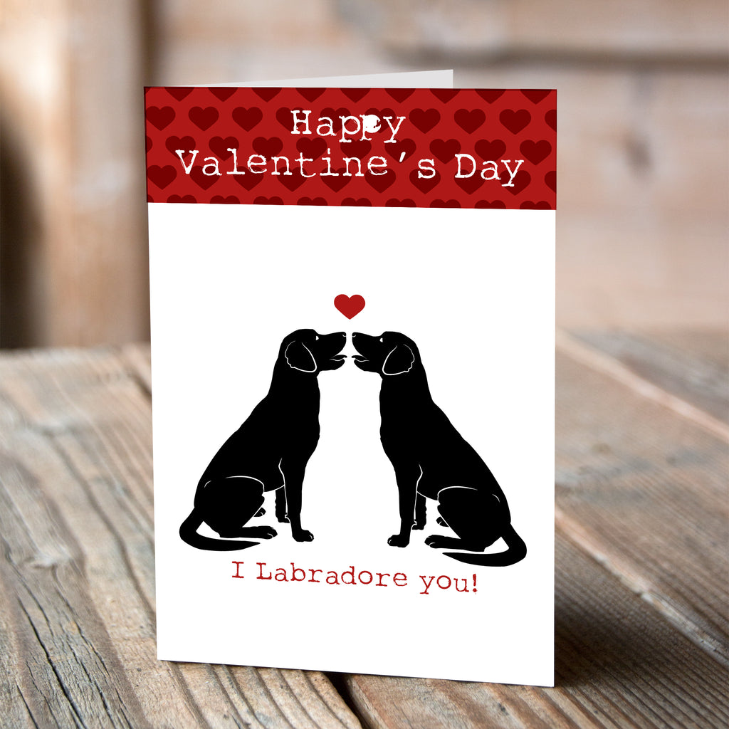 Labrador I Woof You - Valentine Card