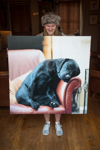 JUMBO ART - AFTER THE WALK - HUGE 1 Metre Square Canvas