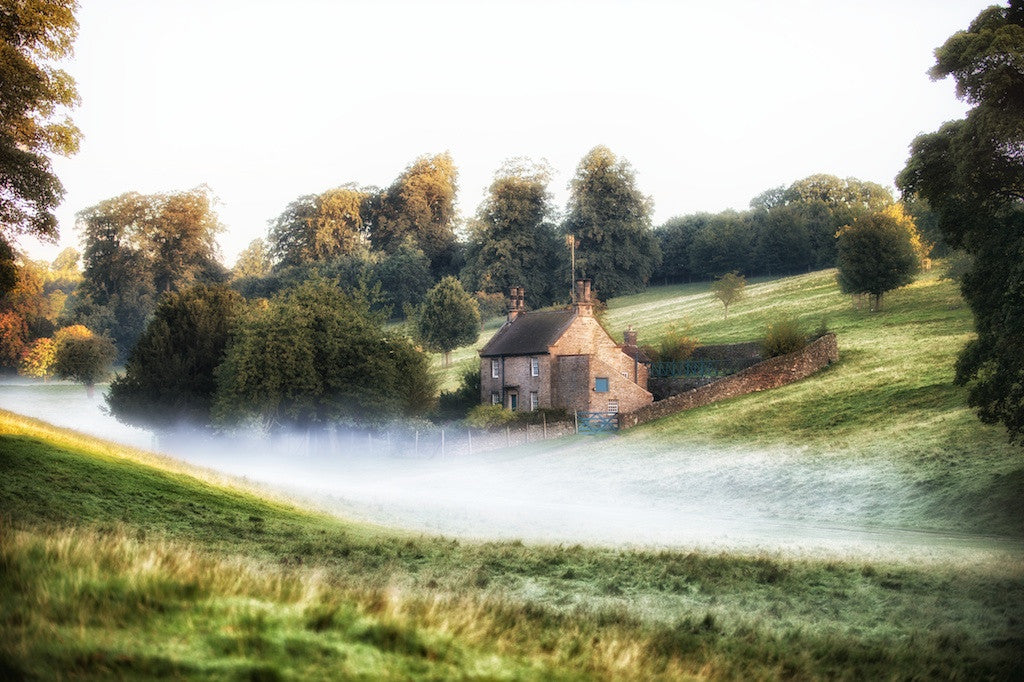 Misty Cottage Landscape Print