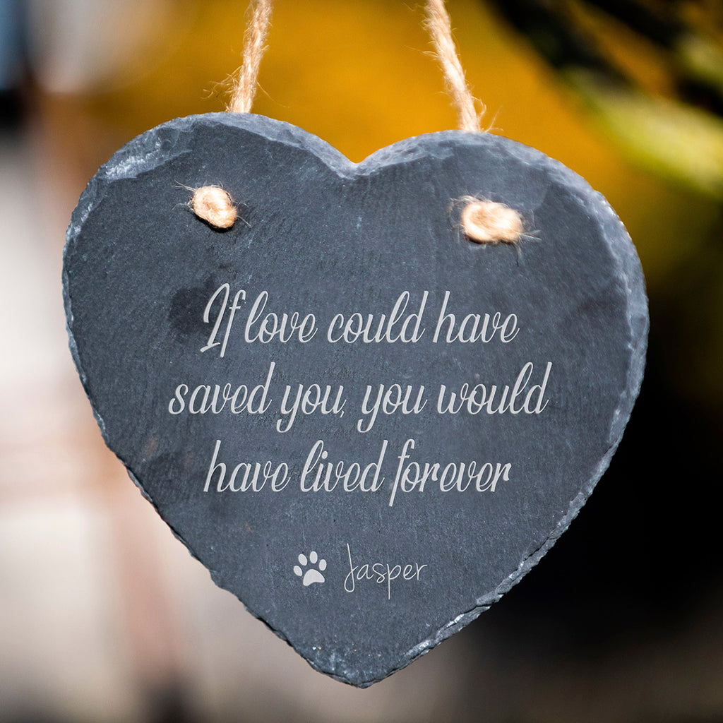 Love Message - Large Personalised Pet Slate Heart