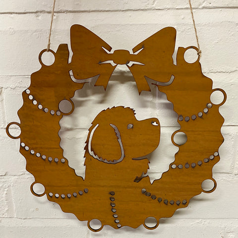 Newfoundland Festive Wreath - Rustic Festive Decoration - Solid Steel