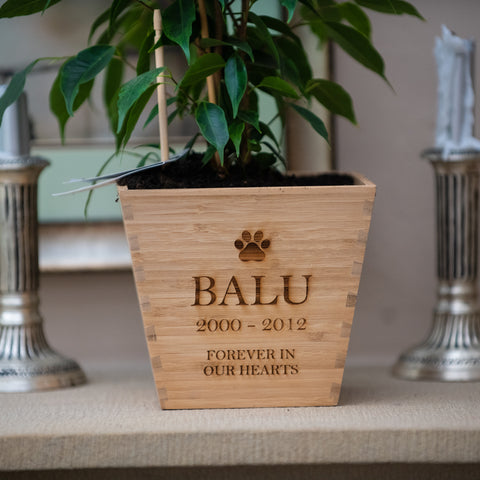 Personalised Pet Memorial Pot