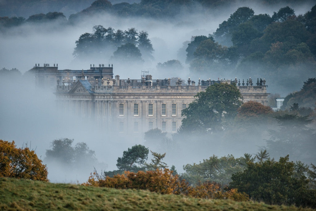 Chatsworth In The Mist Landscape Print
