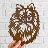 Pomeranian - Rustic Rusted Pet Garden Sculpture - Solid Steel