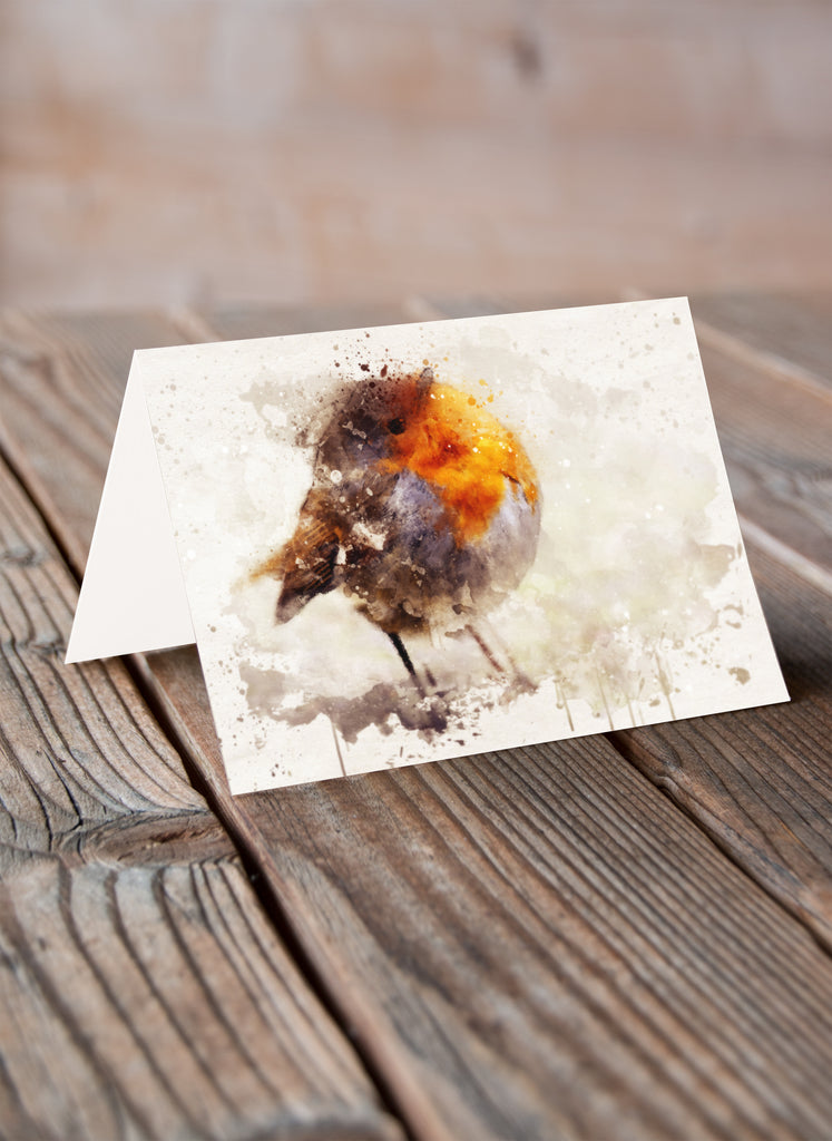 Round Robin Greeting Card - Villager Jim Art