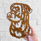 Rottweiler - Rustic Rusted Pet Garden Sculpture - Solid Steel