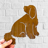 Bearded Collie (FULL BODY) Rustic Steel Sculpture