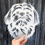 Shih Tzu 2 - Rustic Rusted Pet Garden Sculpture - Solid Steel