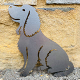 Springer Spaniel (FULL BODY) Rustic Steel Sculpture